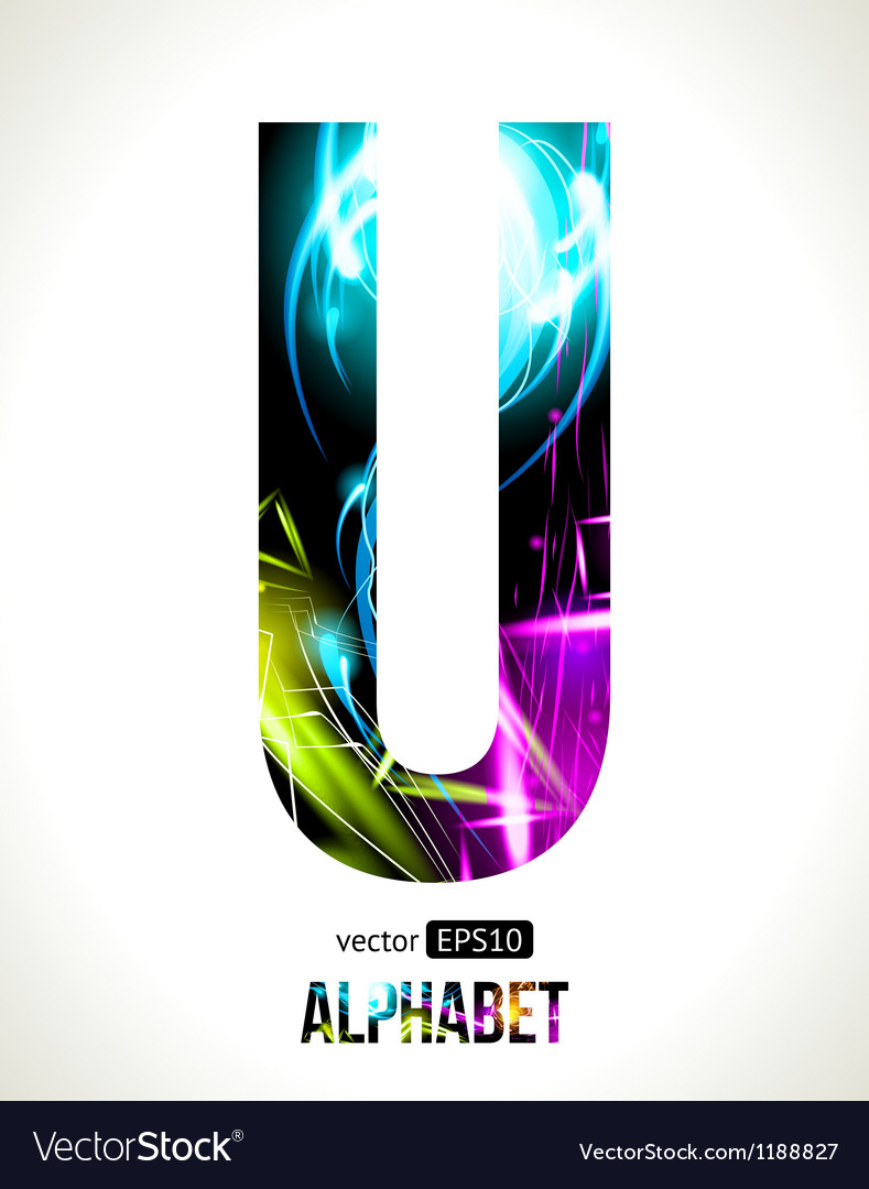 Letter U vector image
