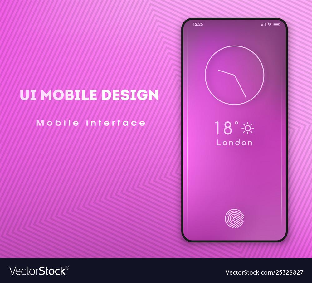 Mobile application interface design screensaver