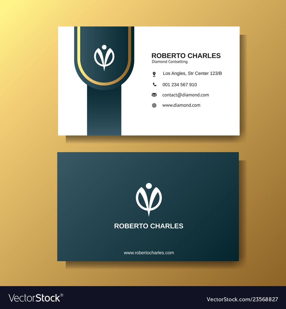 Modern luxury business card background template