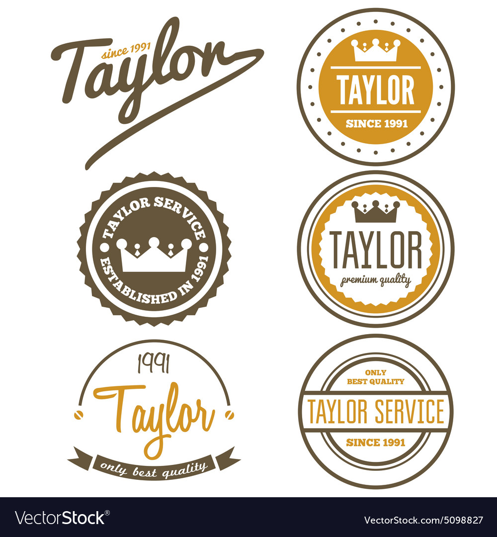 Vintage logo badge emblem or logotype elements