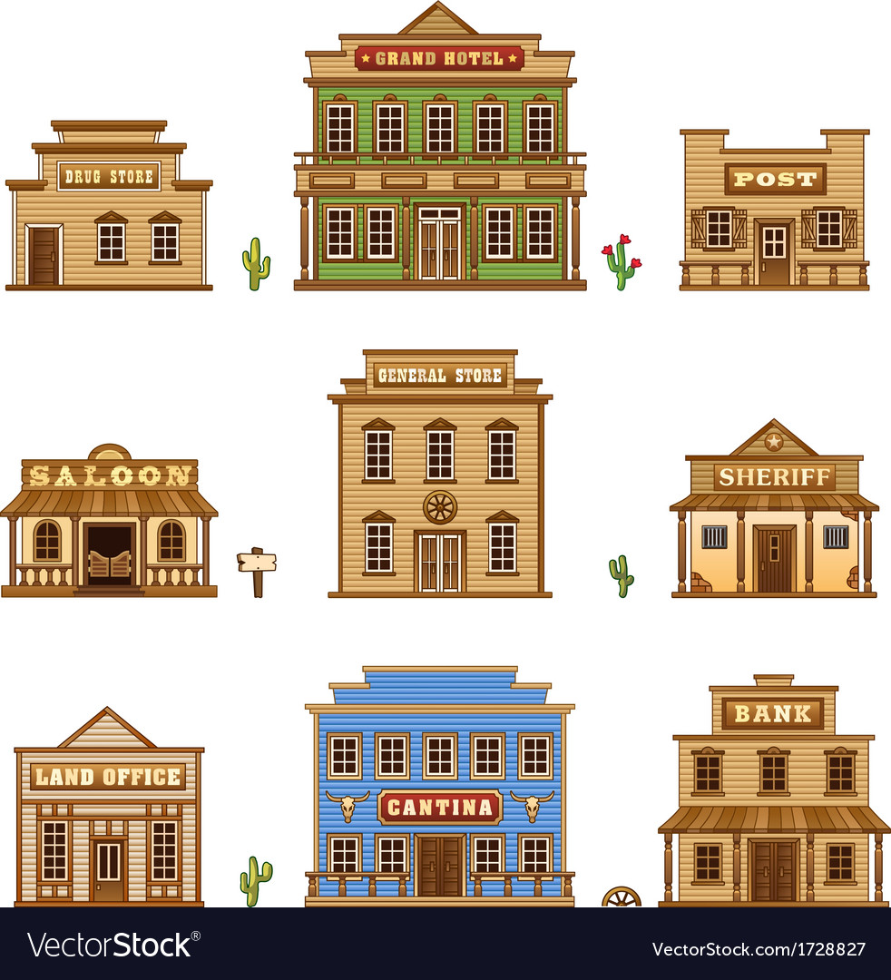 Wild West buildings