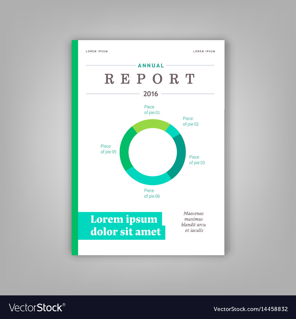 Blue annual report leaflet brochure template