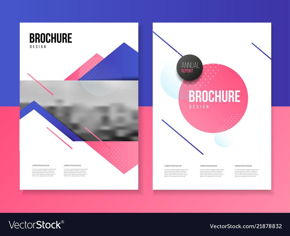 Brochure template with trend gradient