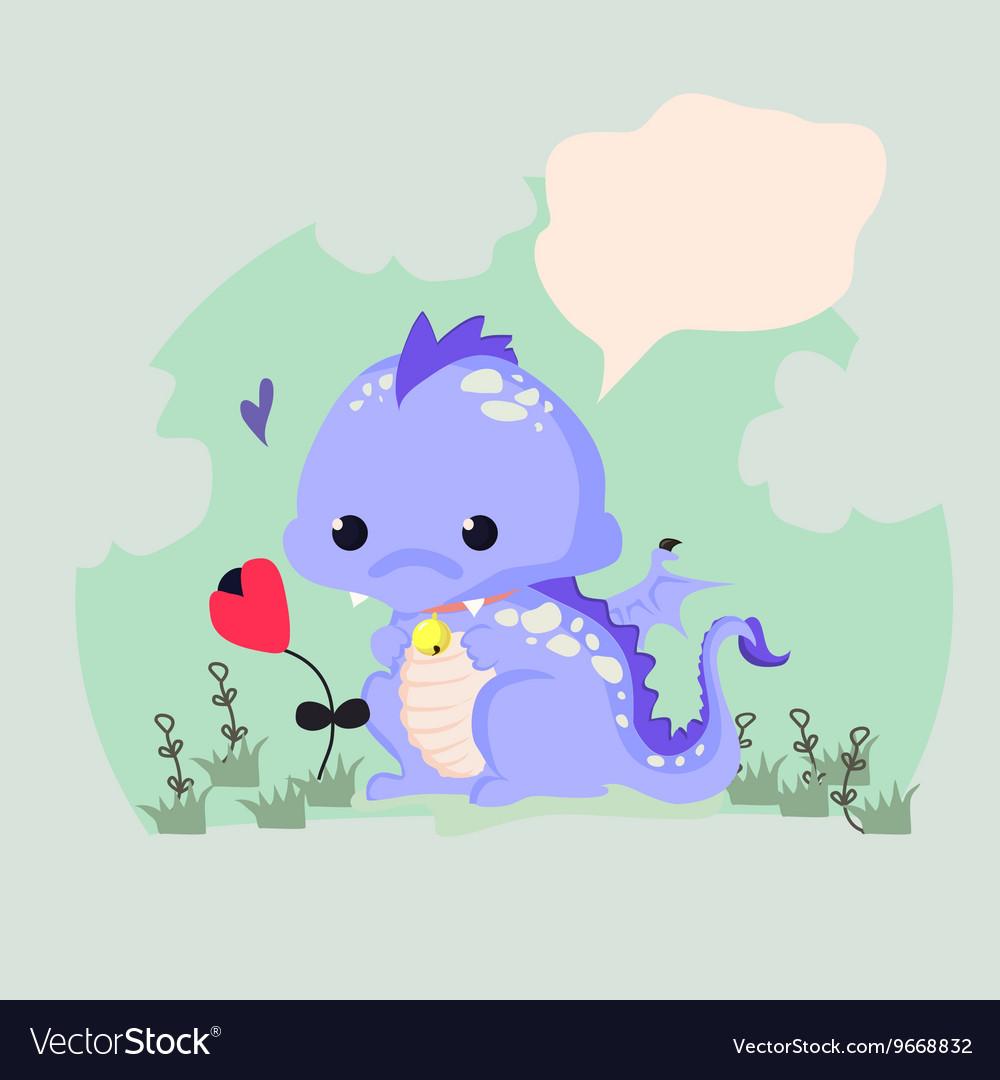Fun of a cute dinosaur
