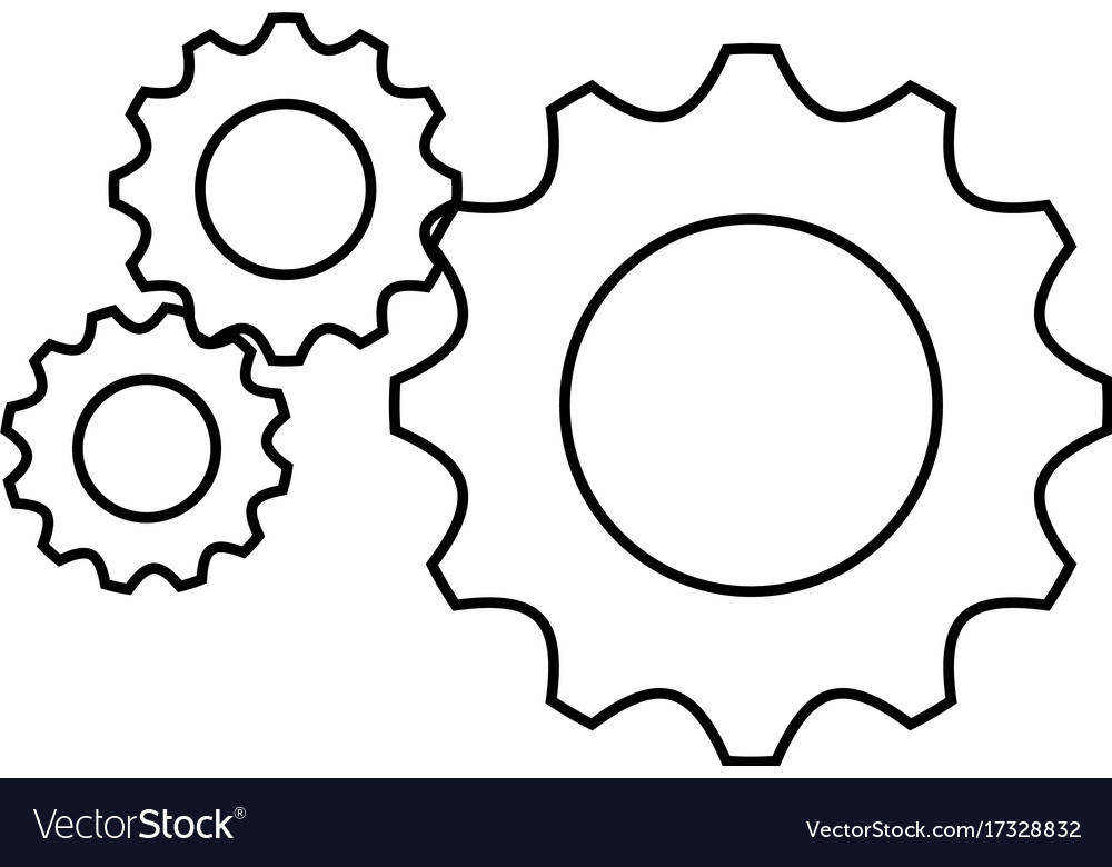 Gear Wheels Icon Royalty Free Vector Image