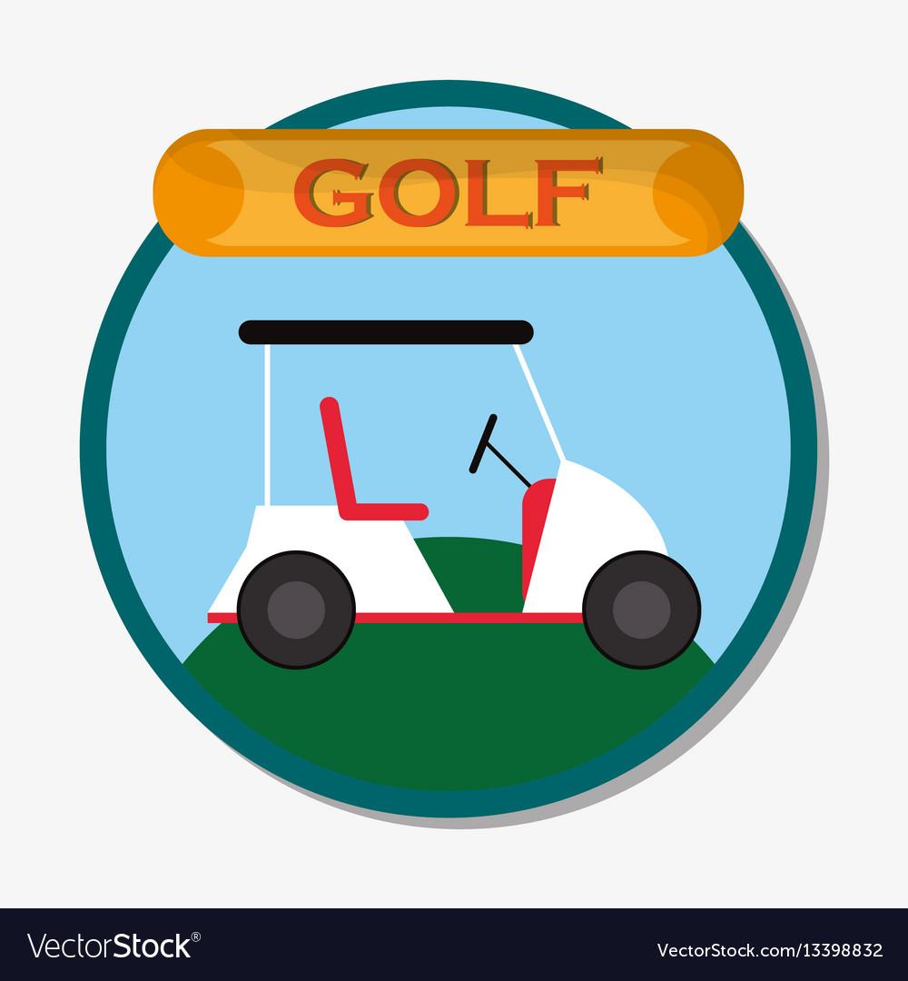 Golf car field sport emblem
