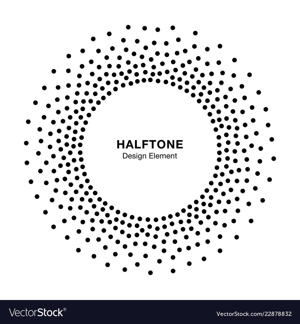 Halftone circular dotted frame circle halftone