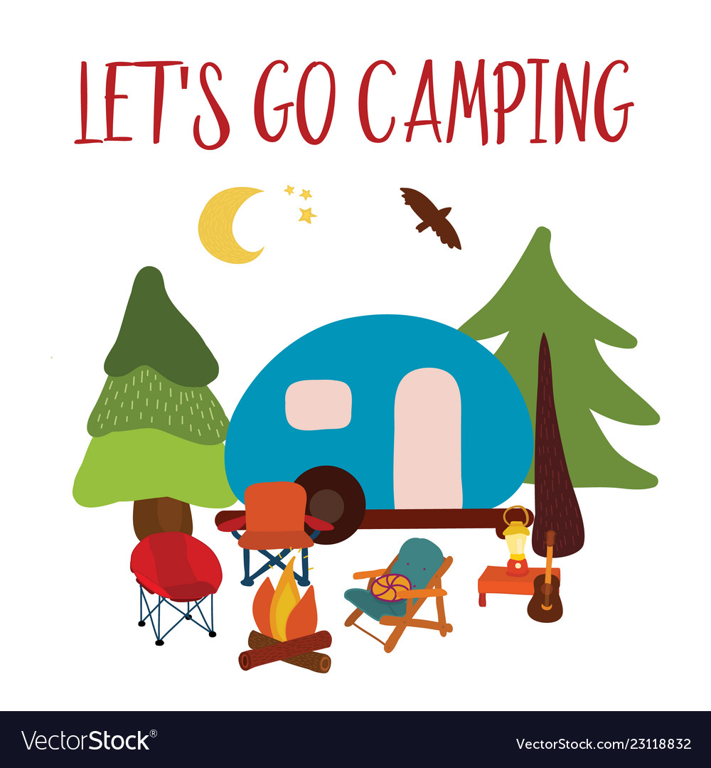 Lets go camping summer travel