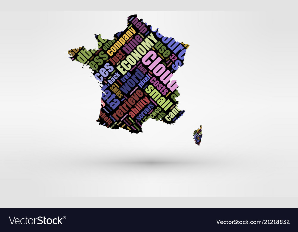 Map of france theme of economy and global finance