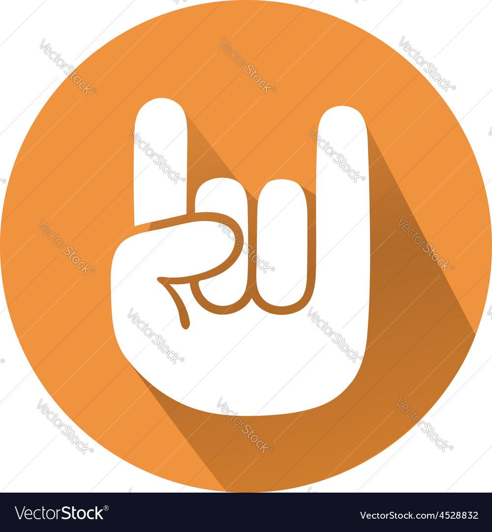 Rock gesture vector image