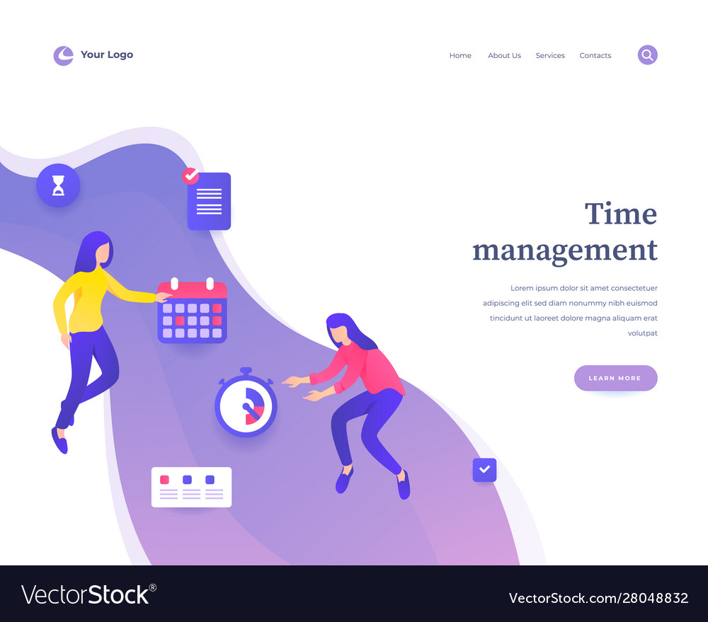 Time management concept workflow flying or