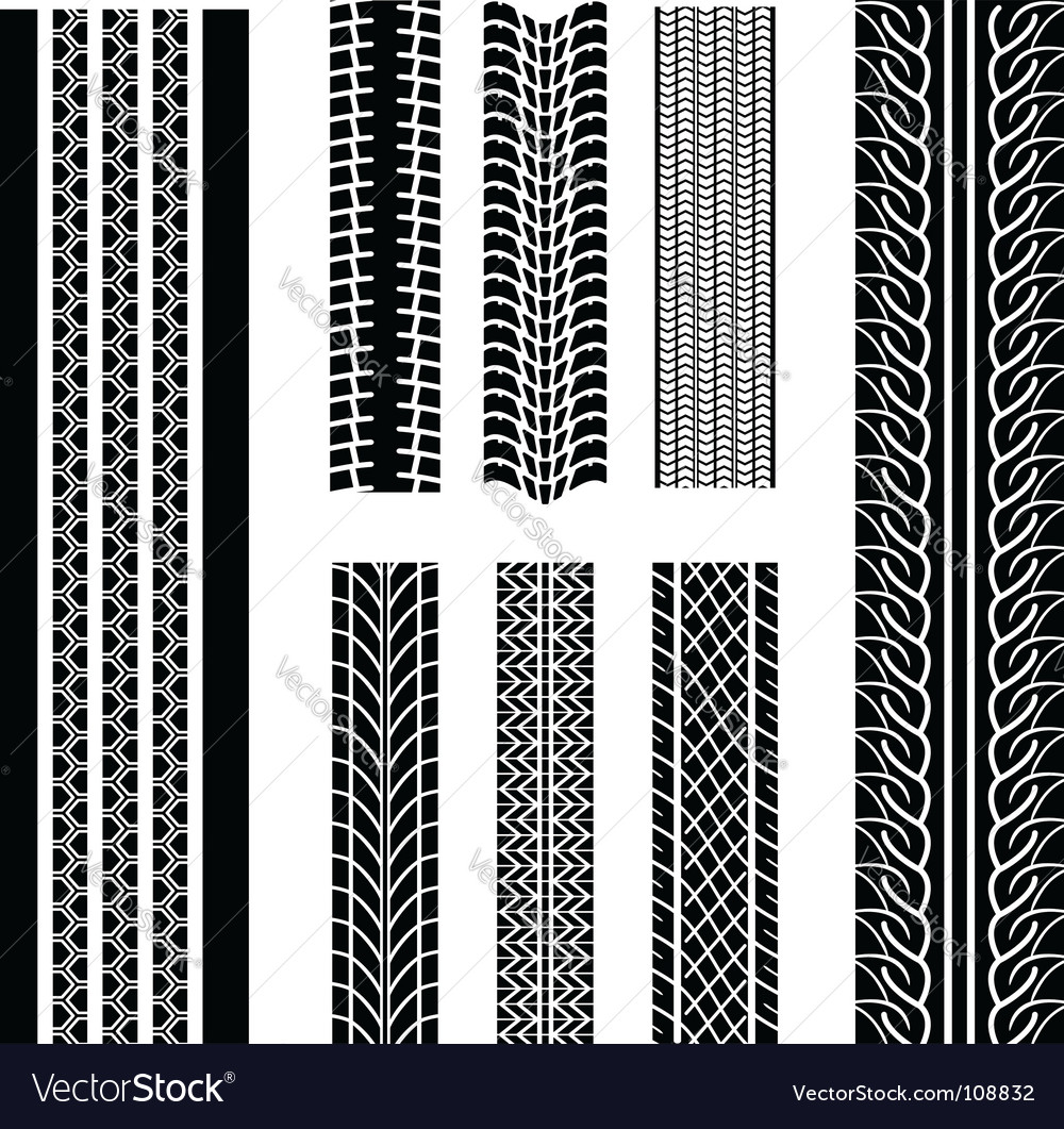 Tire patterns vector image