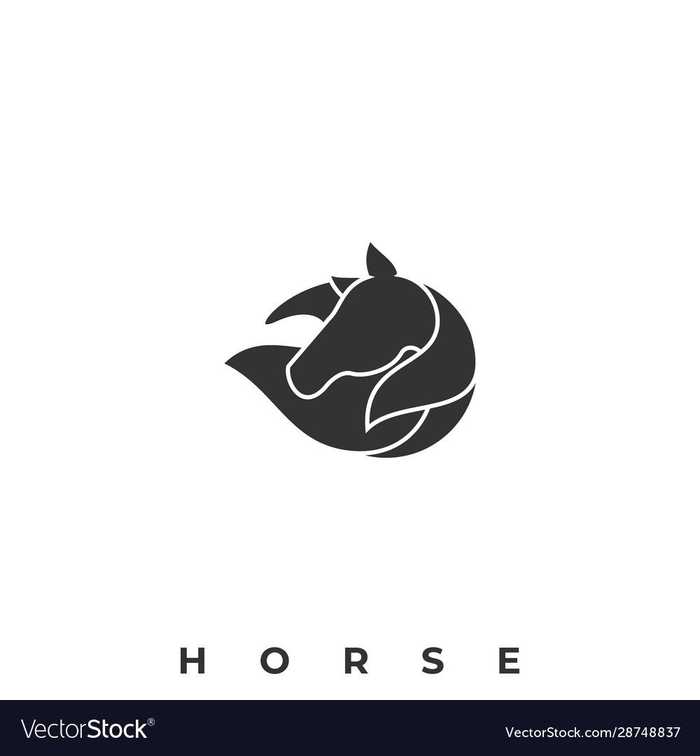 Beautiful horse template
