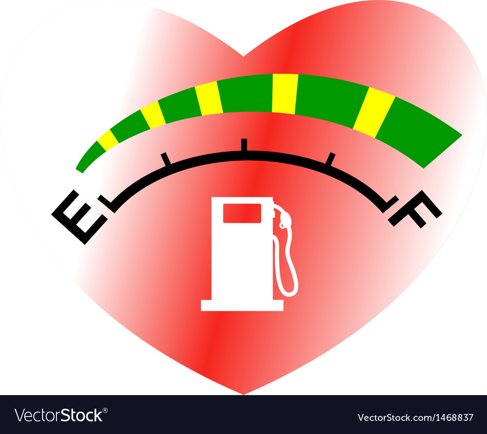 Fuel gage meter heart shape