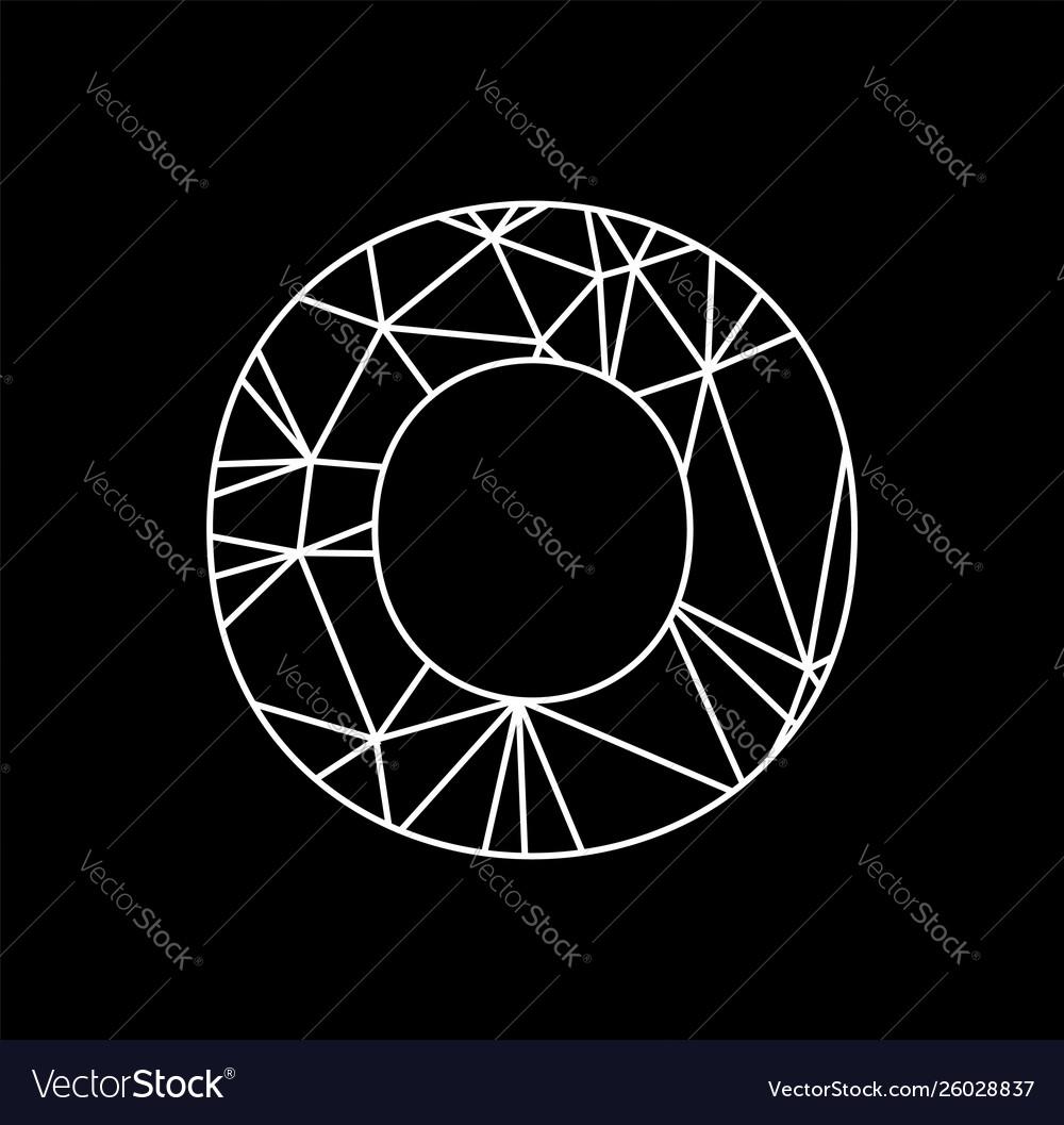 O geometric triangle block chain font