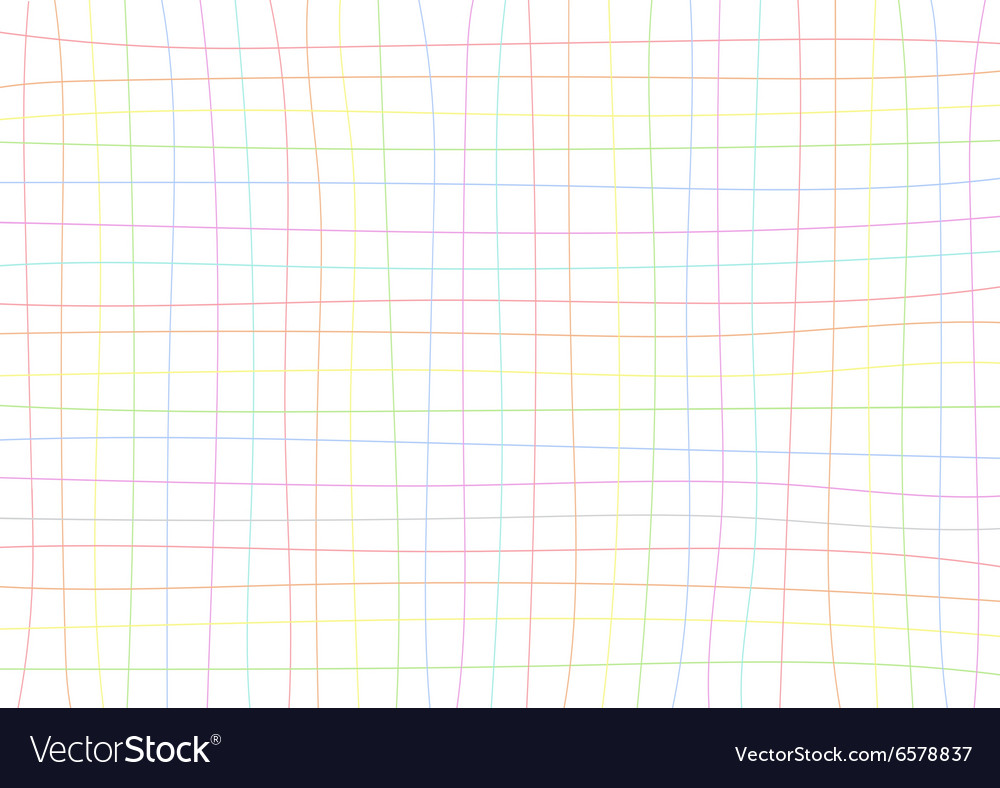 Rainbow Grid White Background