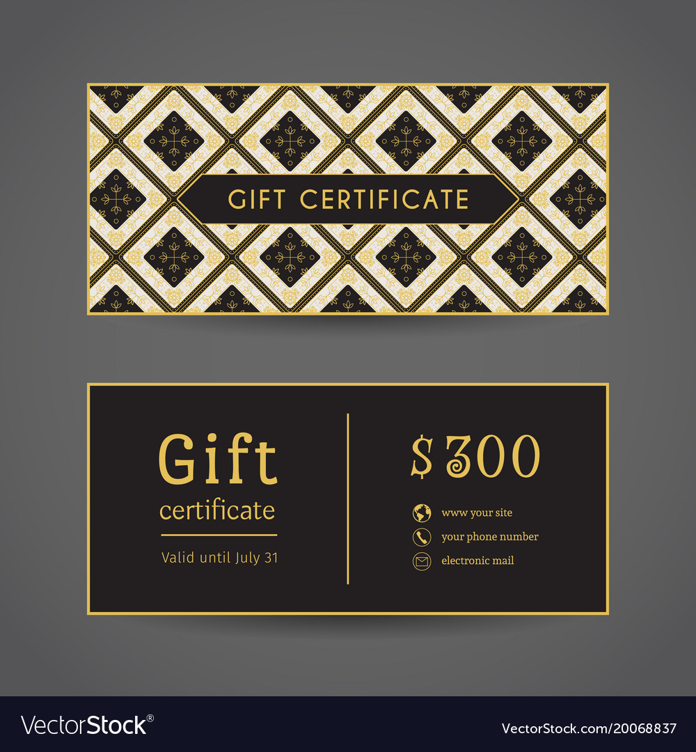 Vintage Gift Certificate Royalty Free Vector Image