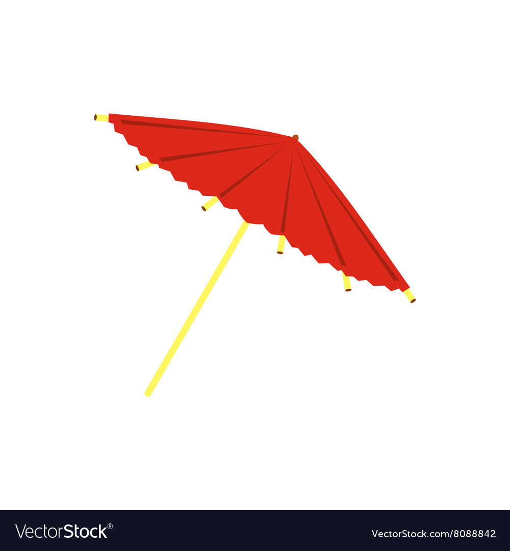 Asian parasol or umbrella icon flat style vector image
