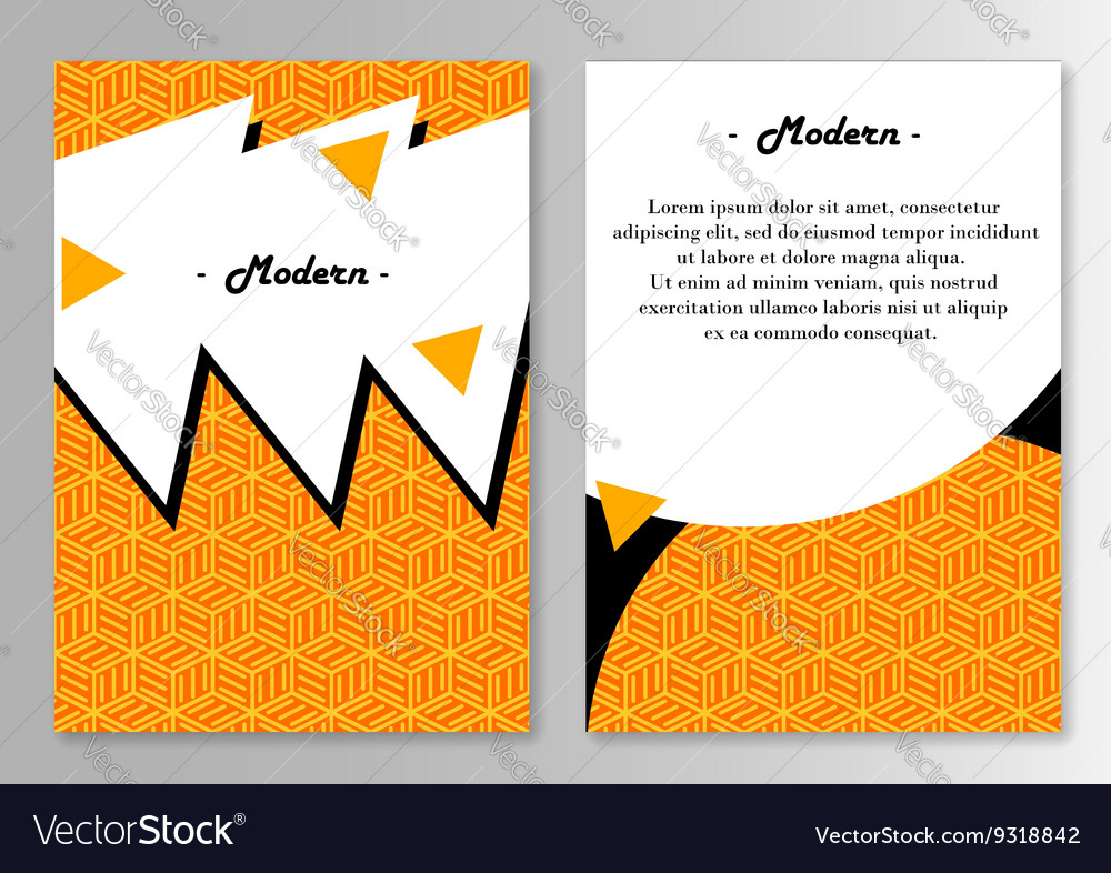 Brochure Pages Template Royalty Free Vector Image