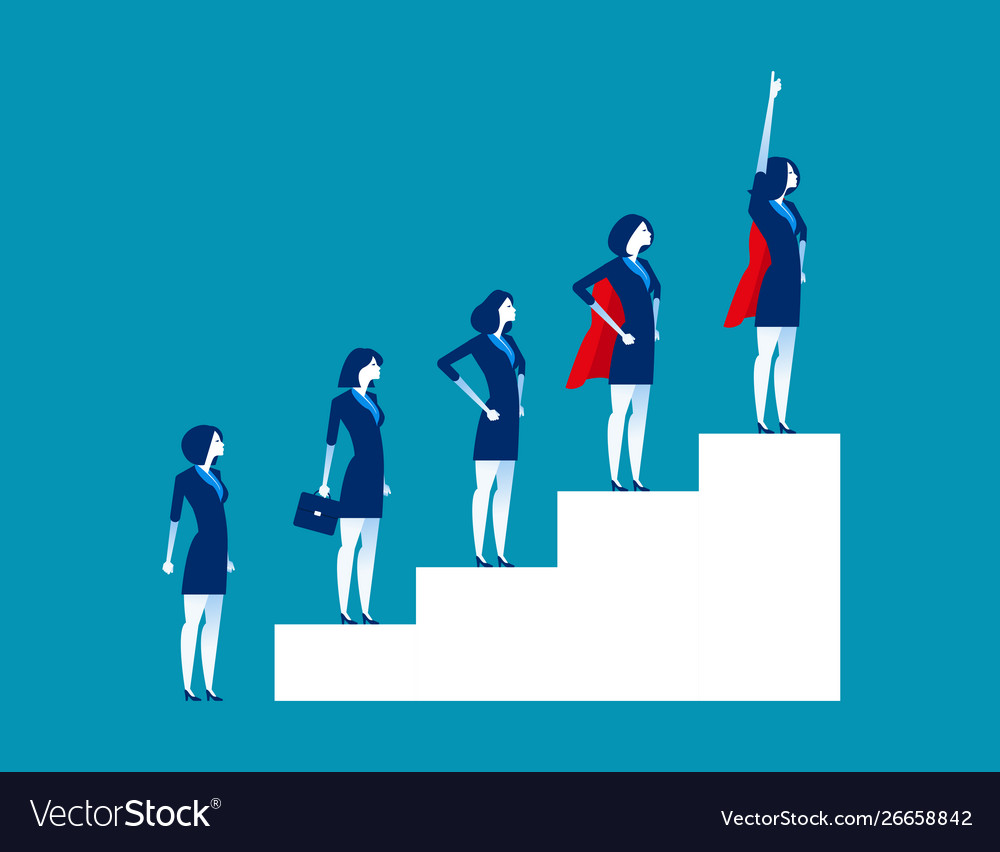 Business Leadership And Teamwork Concept Business Vector Image