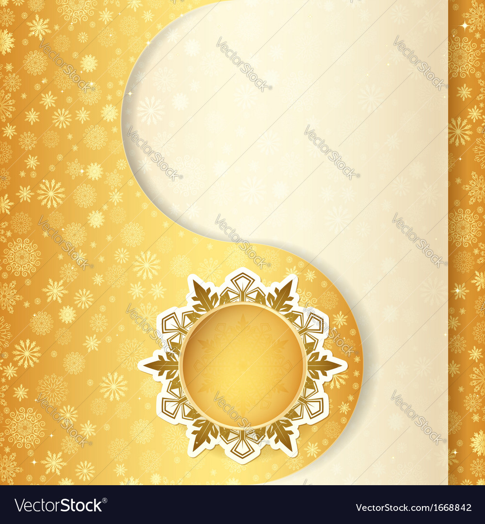 Christmas Gift Card Snowflake Design Background Vector Image
