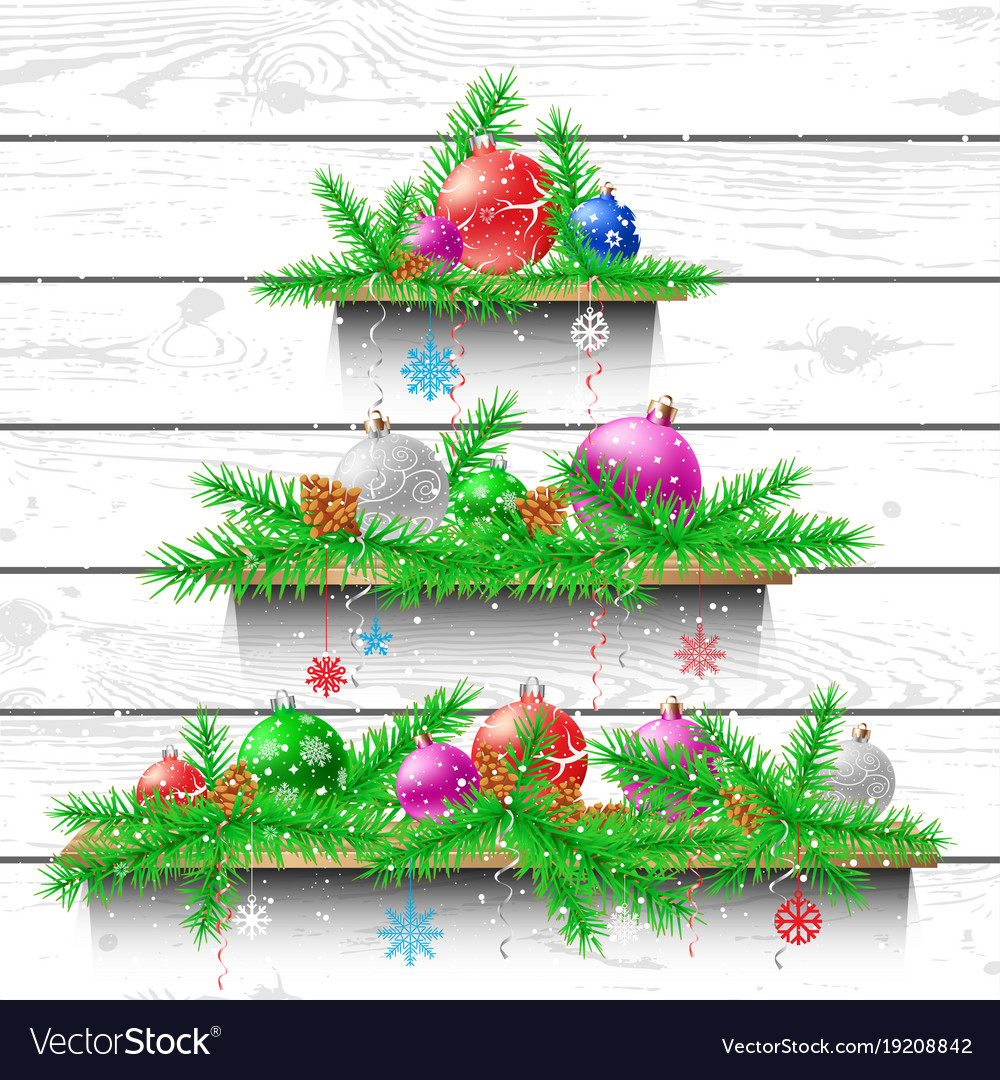 Christmas Tree Of Wooden Shelves