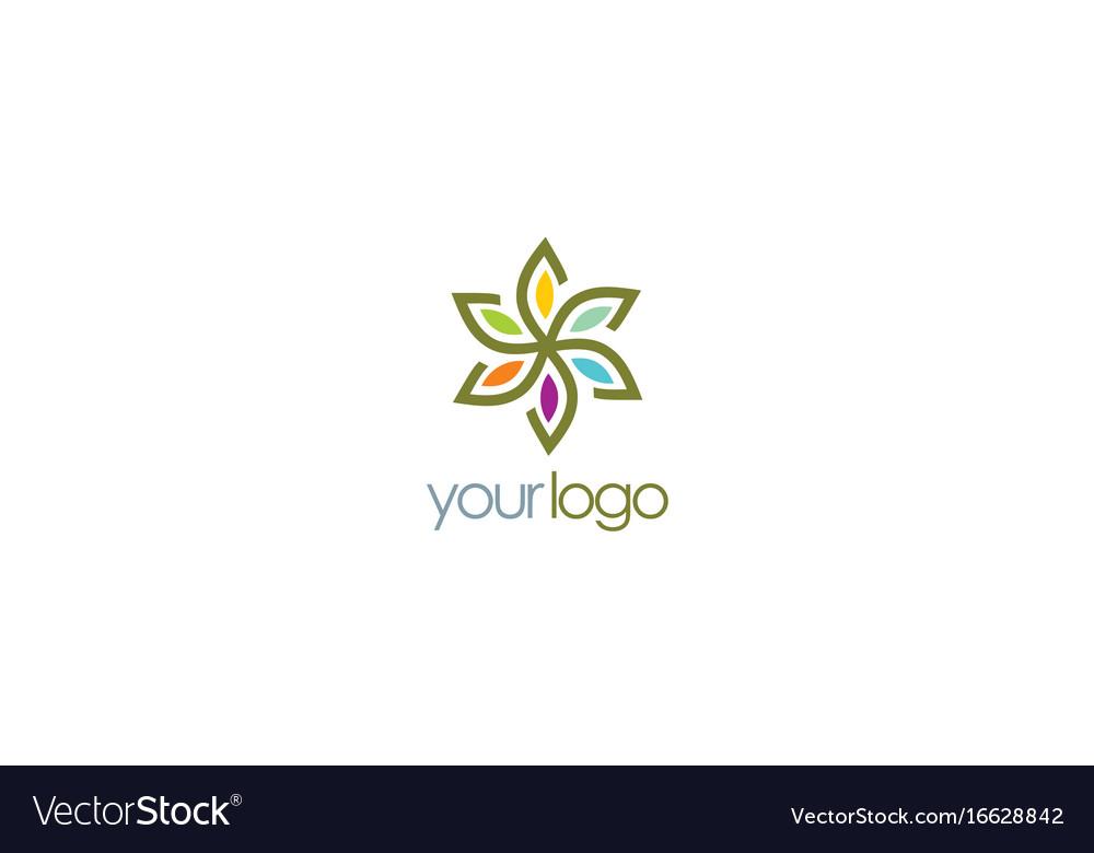 Flower star colored logo