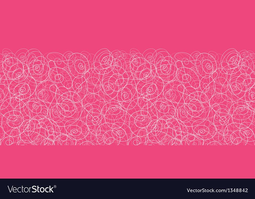 Pink swirl horizontal seamless pattern background