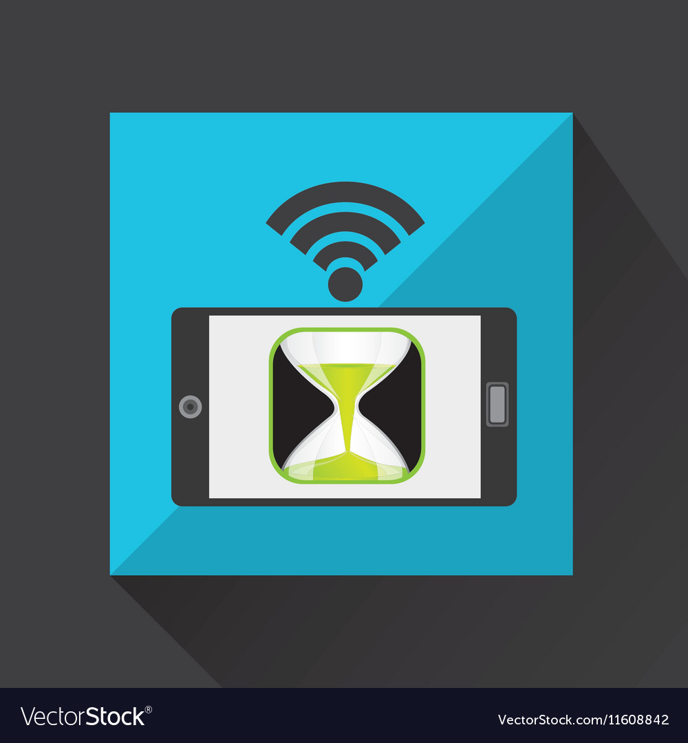 Smartphone countown clock internet wifi icon