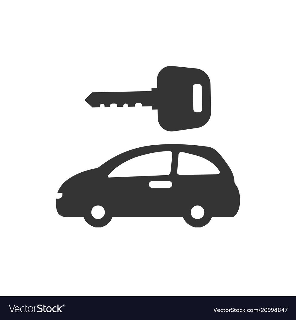 Car Rental Icon Royalty Free Vector Image Vectorstock