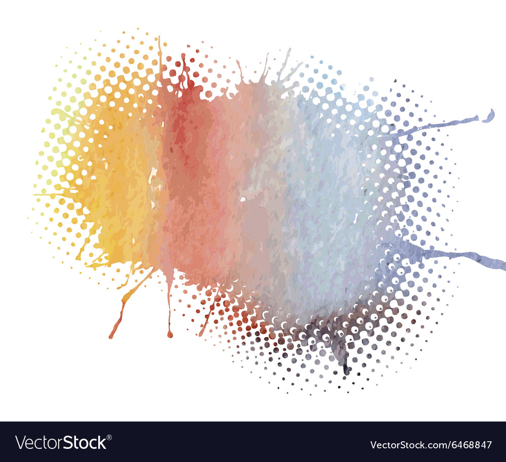Colorful watercolor vector image