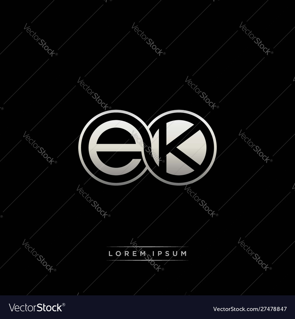 Ek initial letter linked circle capital monogram