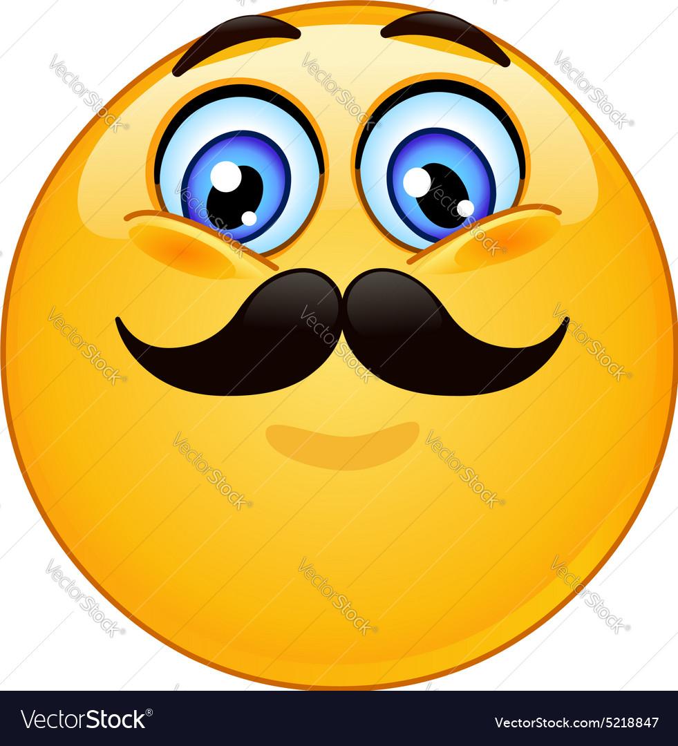 Emoticon with mustache