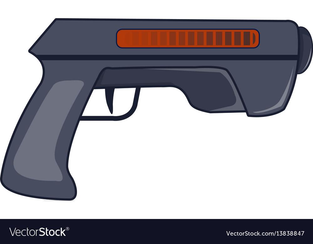 Gun icon cartoon style