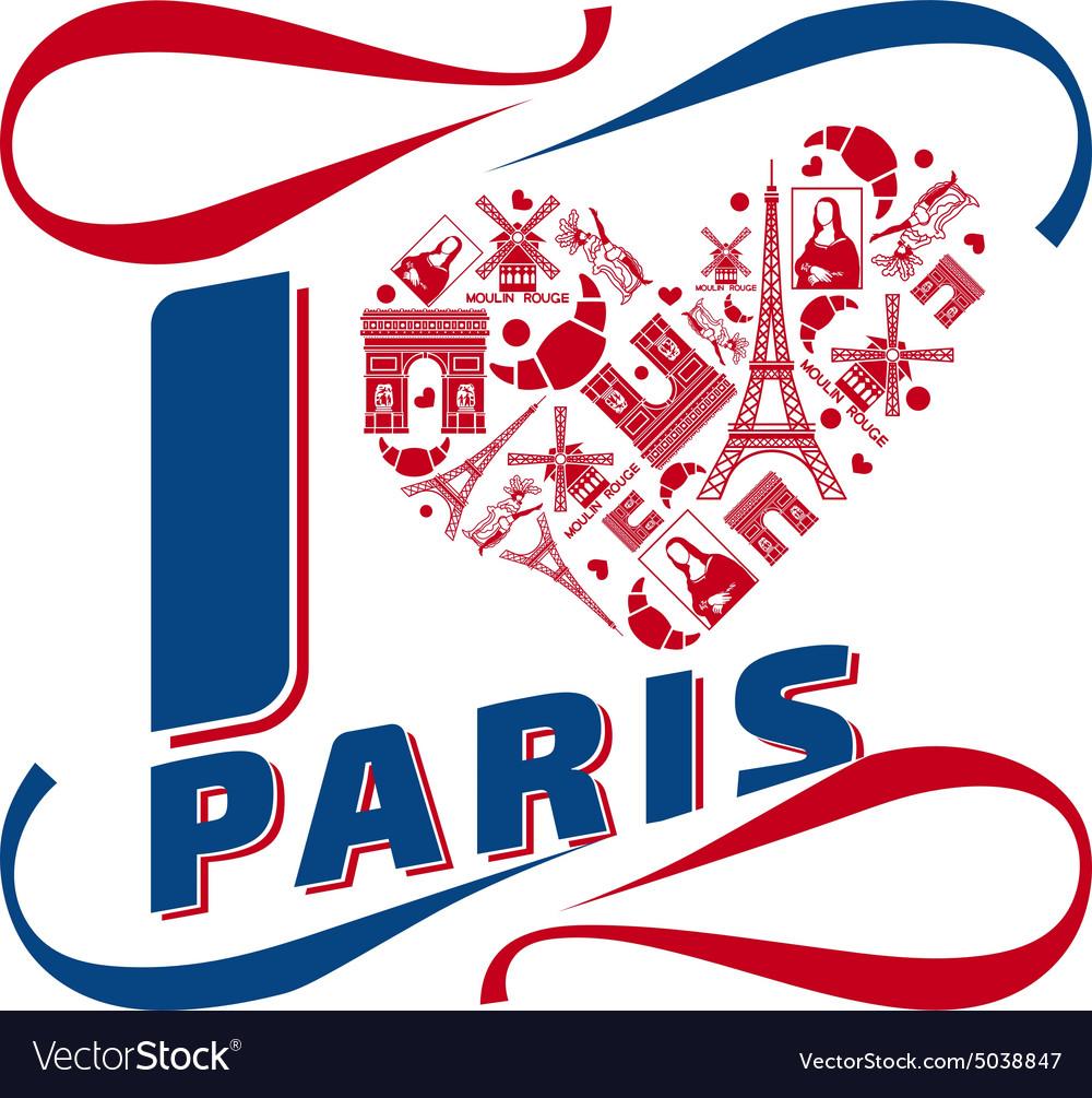I love Paris vector image