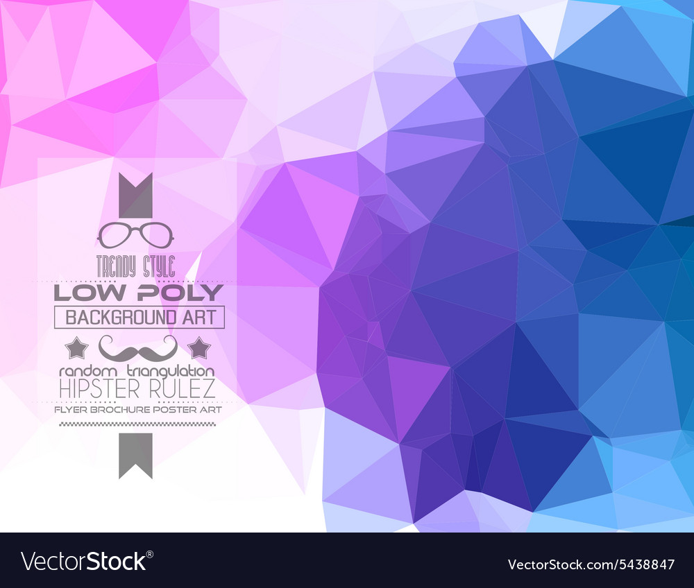 Low Poly trangular trendy hipster background