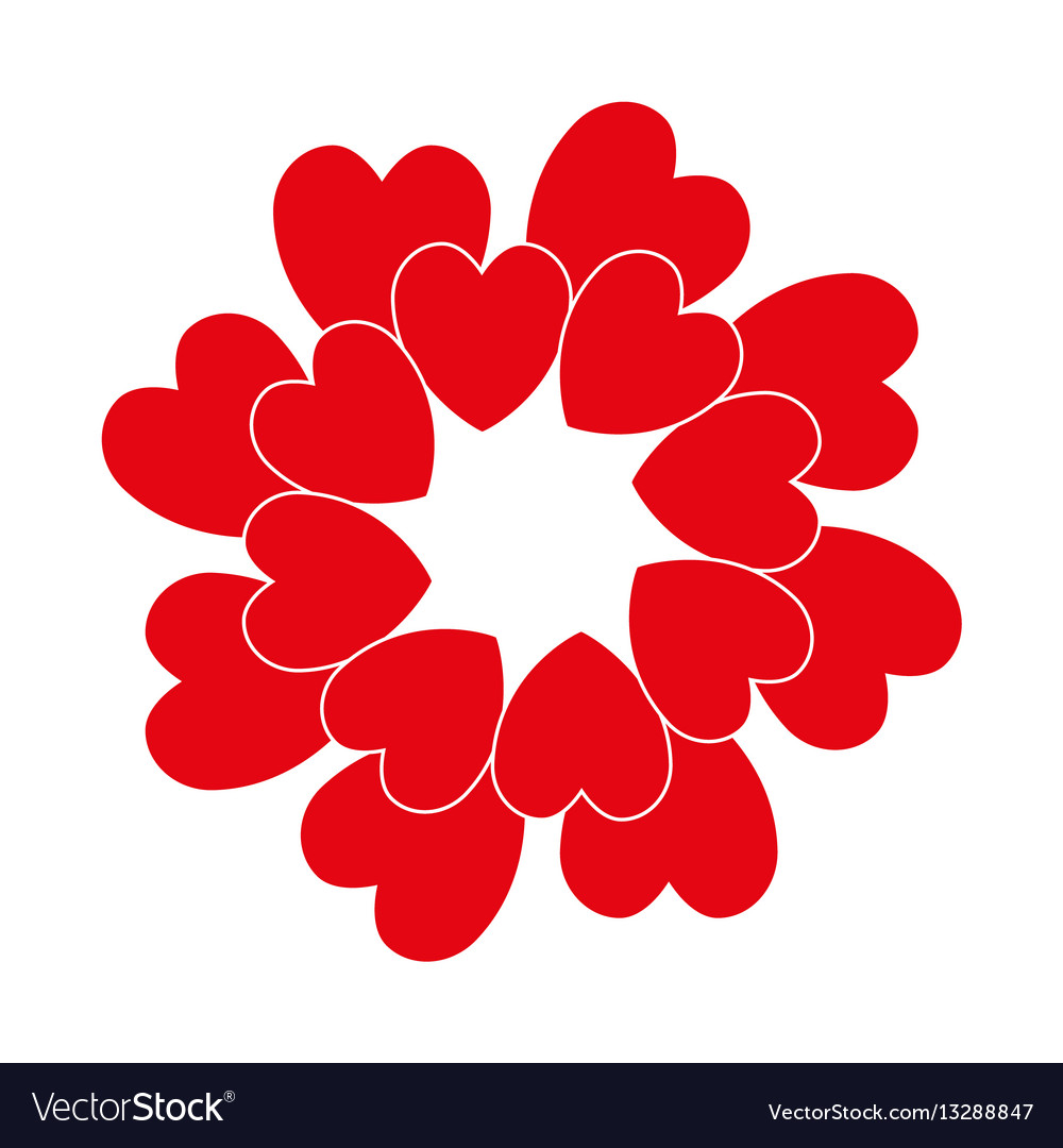 Red circle heart