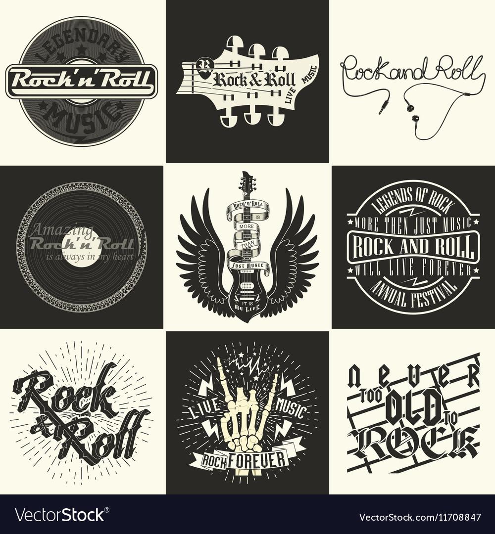 Set of tee shirt print designs