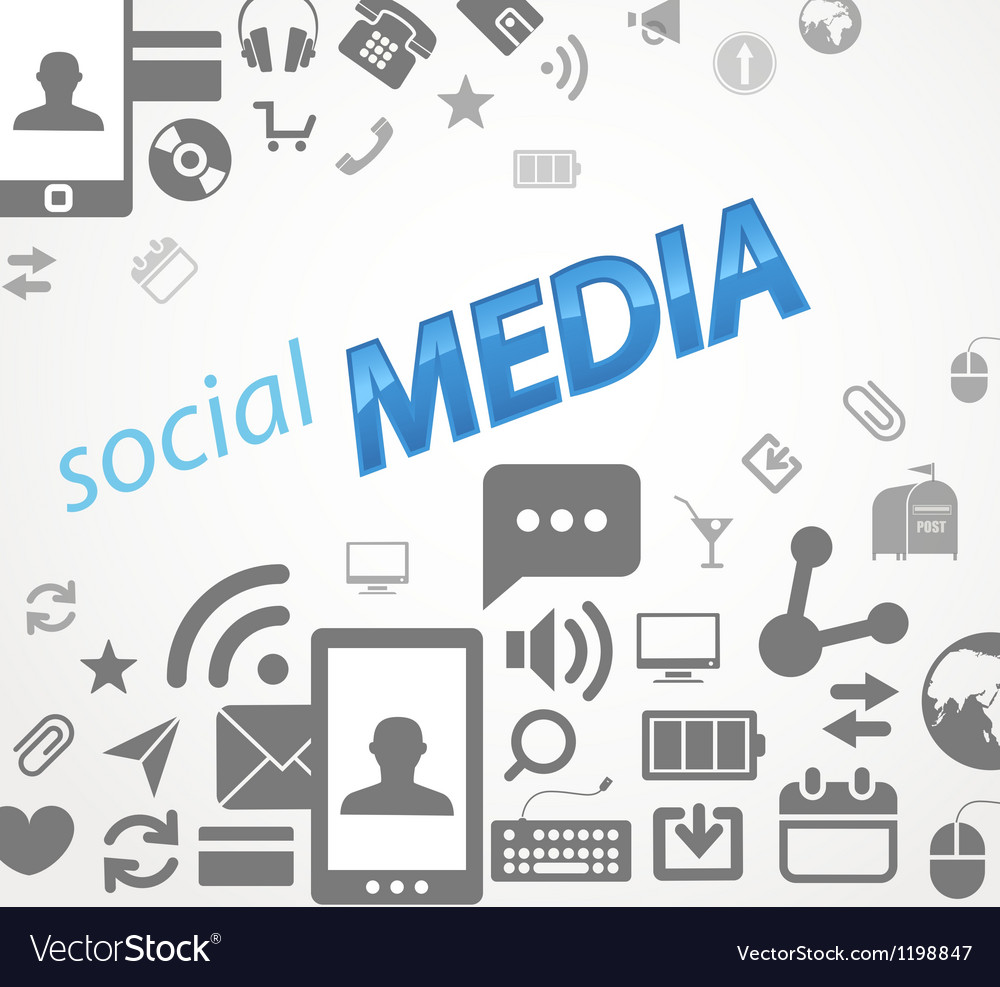 Social media abstract icons