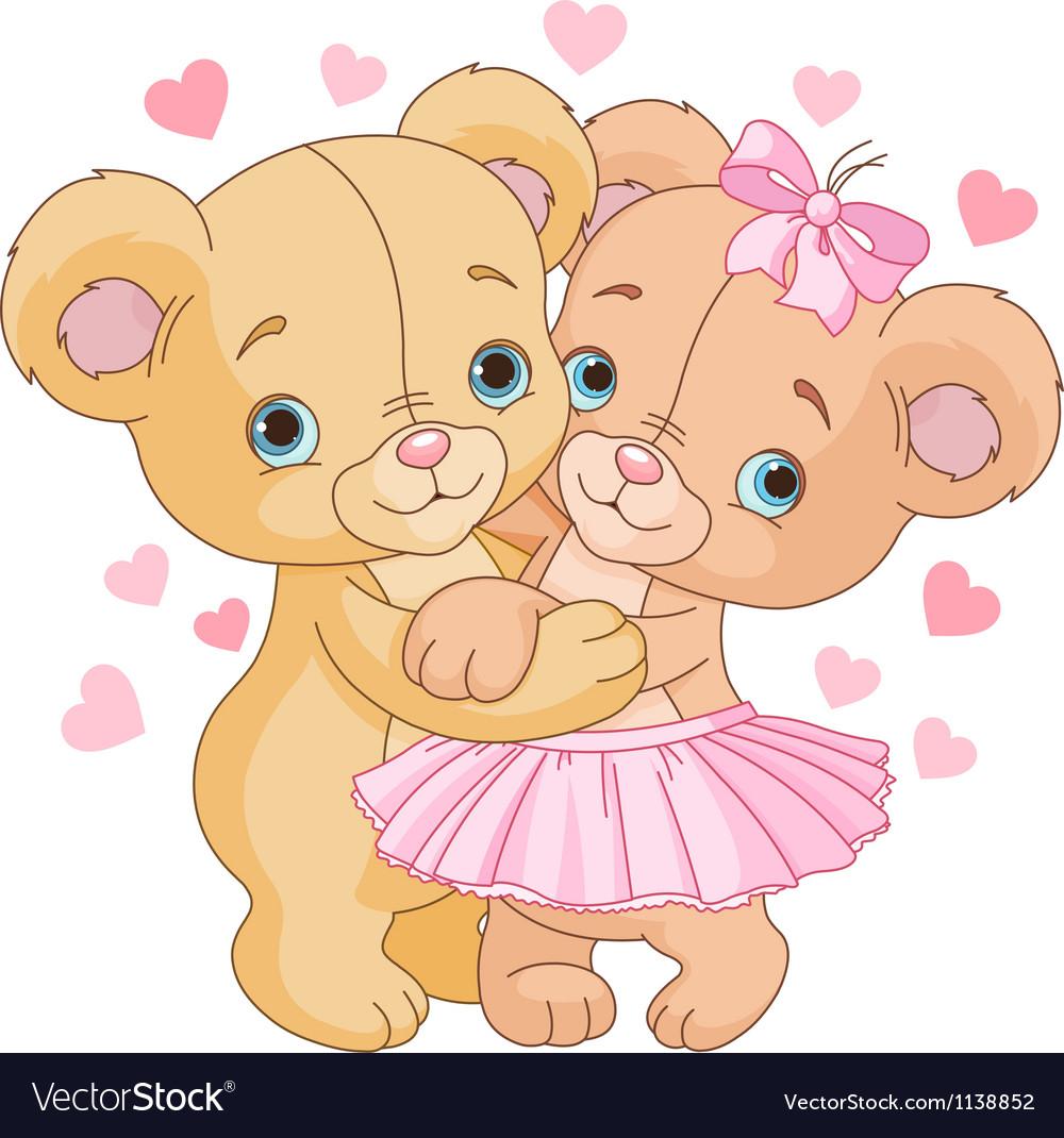 1Teddy bears in love