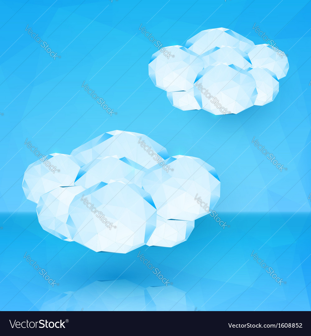 Blue crystal clouds vector image
