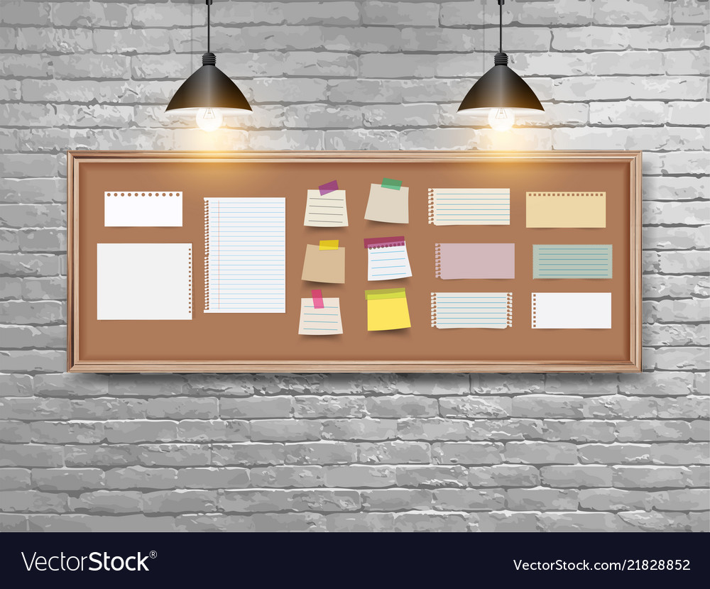 Board with wood frame different note