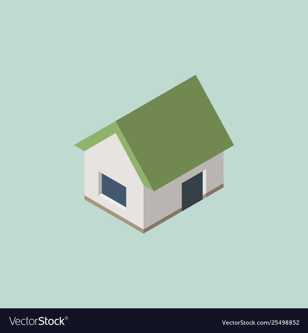 Isometric home house icon eps10