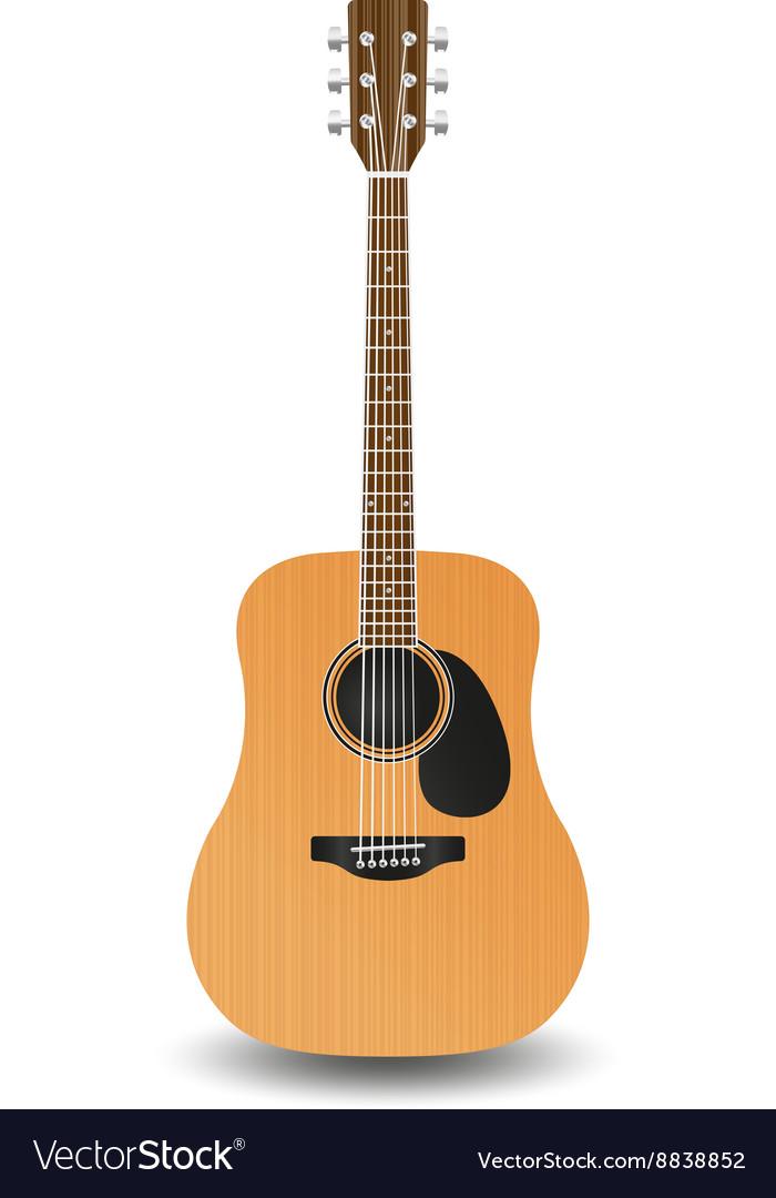 Realistic wooden guitar