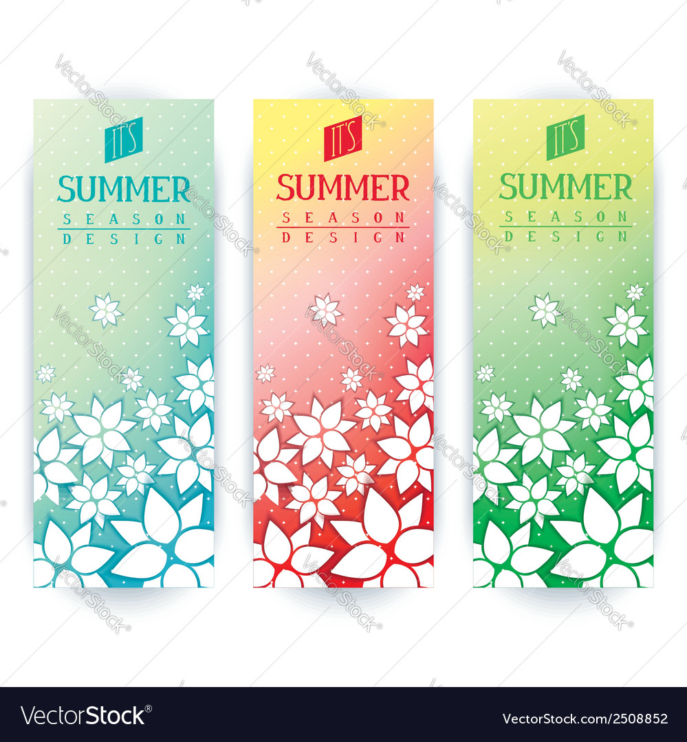 Summer flyers design
