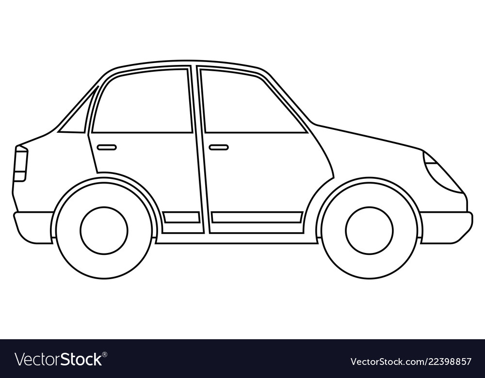 Car Outline Icon Royalty Free Vector Image