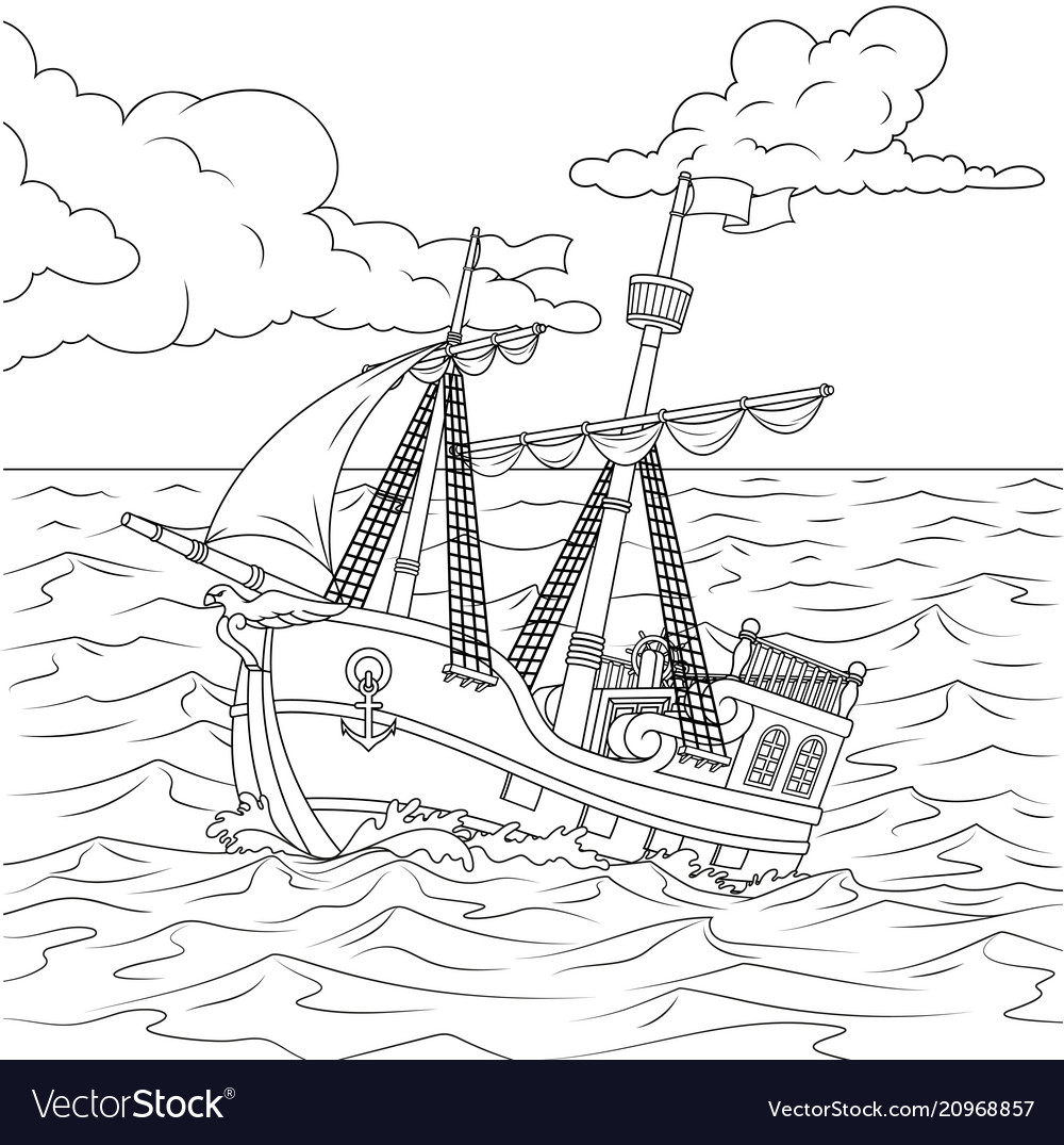 Children sailing ship