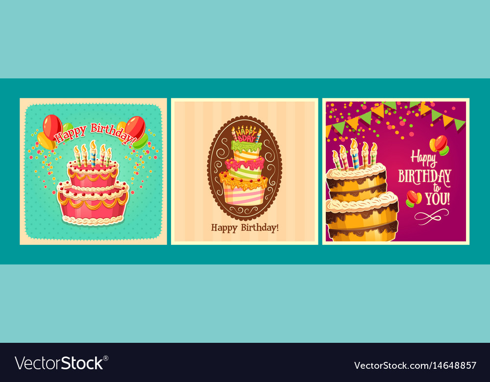 Collection of cartoon backgrounds with vector image