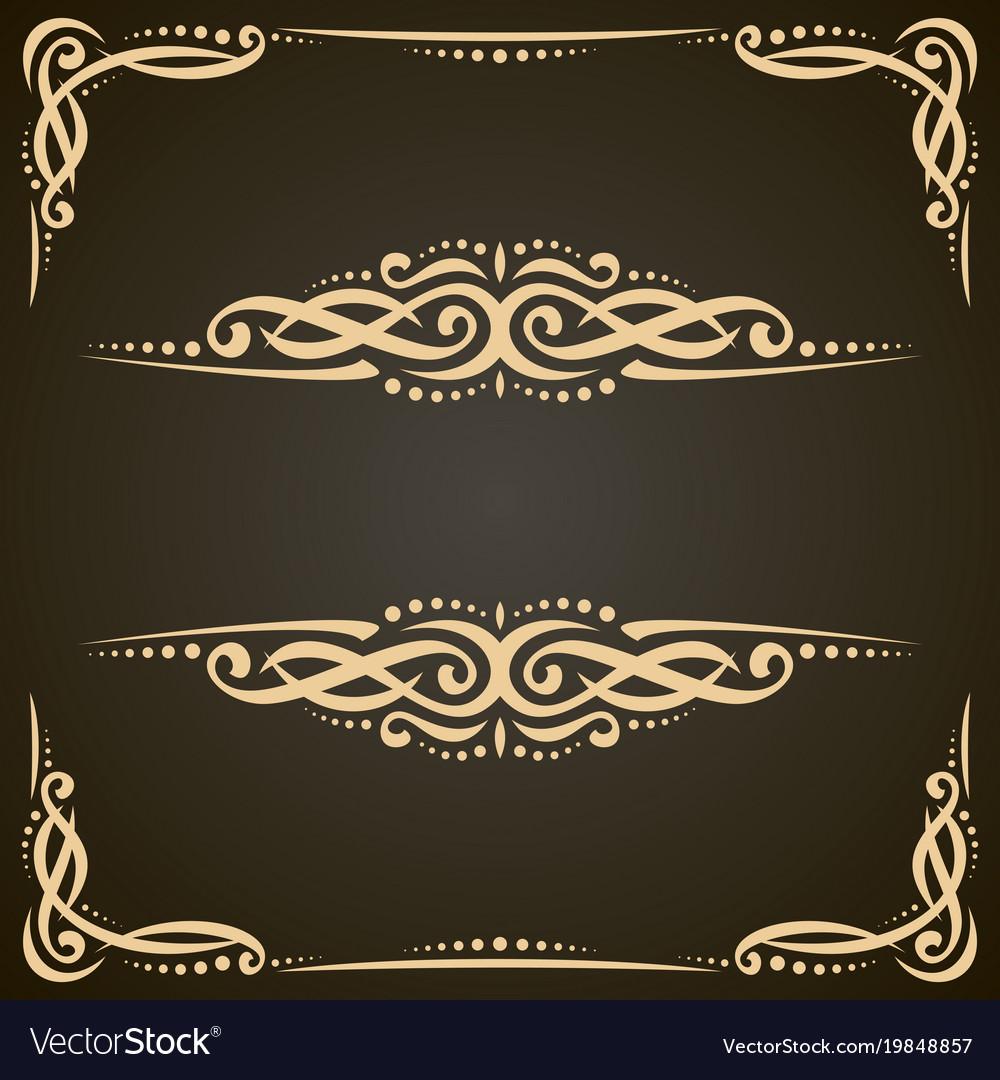 Decorative golden frames