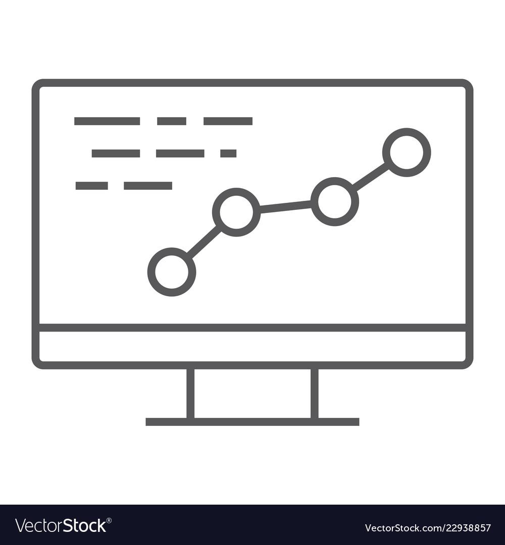 Development thin line icon optimization coding